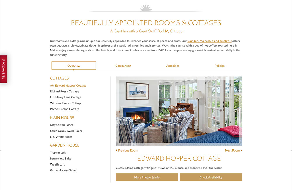 Inn at sunrise point partners with white stone marketing for The make room website
