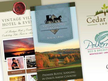 Creative branding and logo design as part of a custom hotel marketing plan