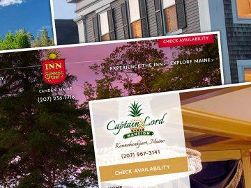 portfolio of custom hospitality website designs
