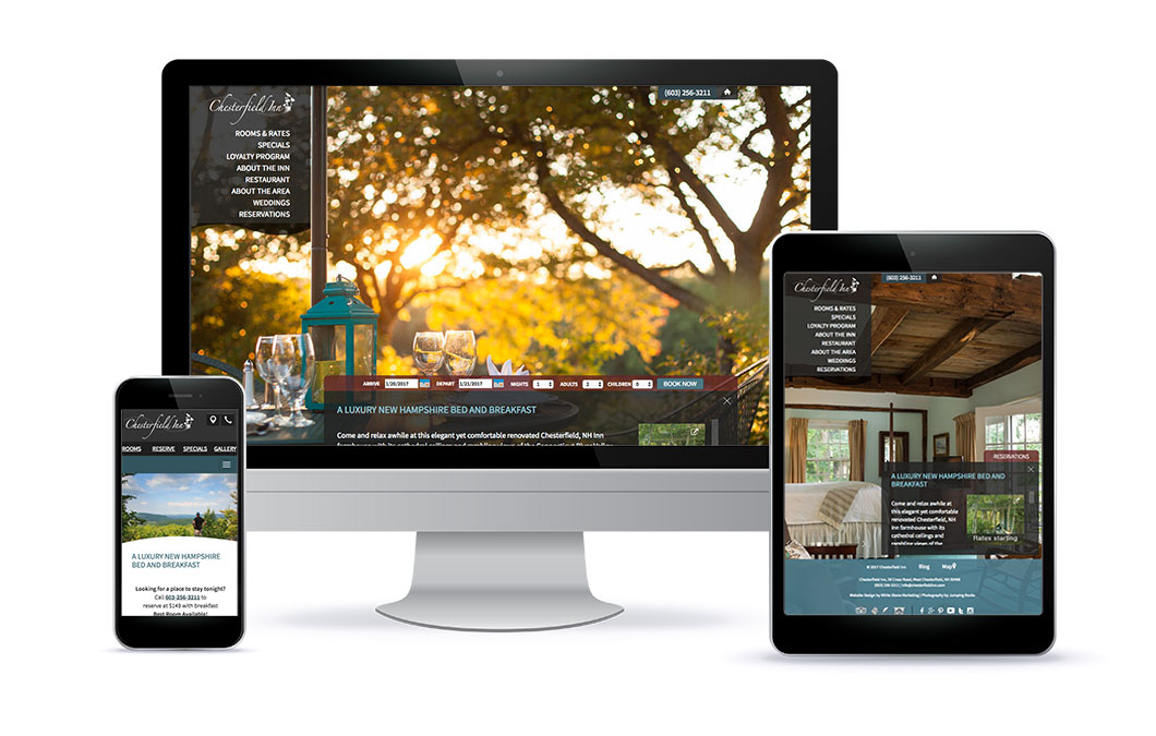 Custom website for Chesterfield Inn