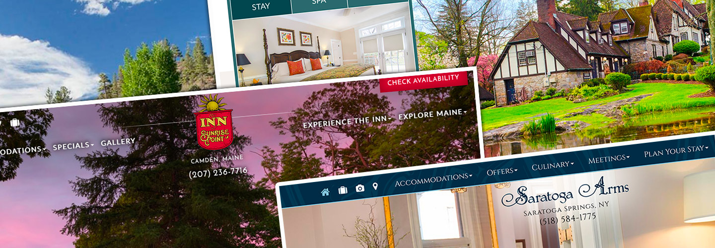 Custom website designs for bed and breakfasts