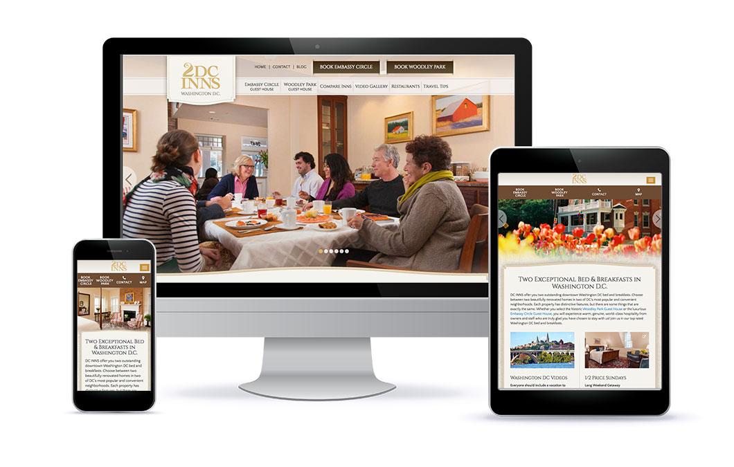 Custom website for DC Inns