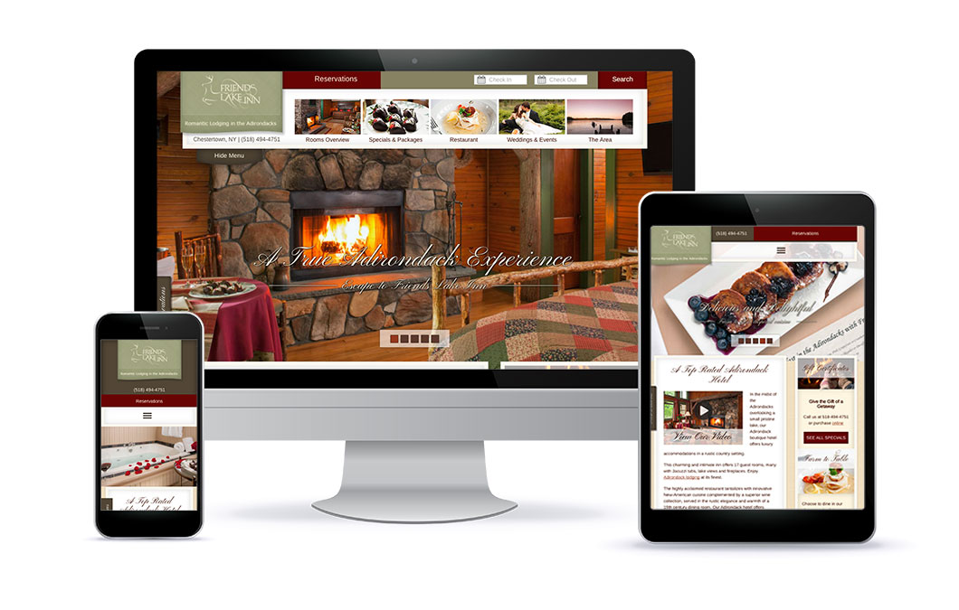 Custom website for Friends Lake Inn