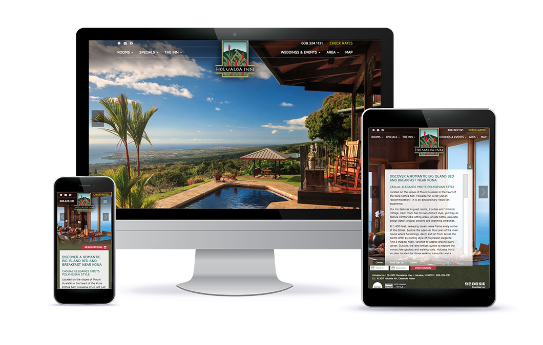 Custom web design for Holualoa Inn