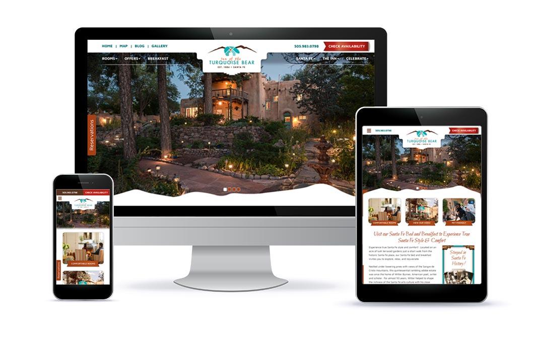 Custom web design for Inn of the Turquoise Bear