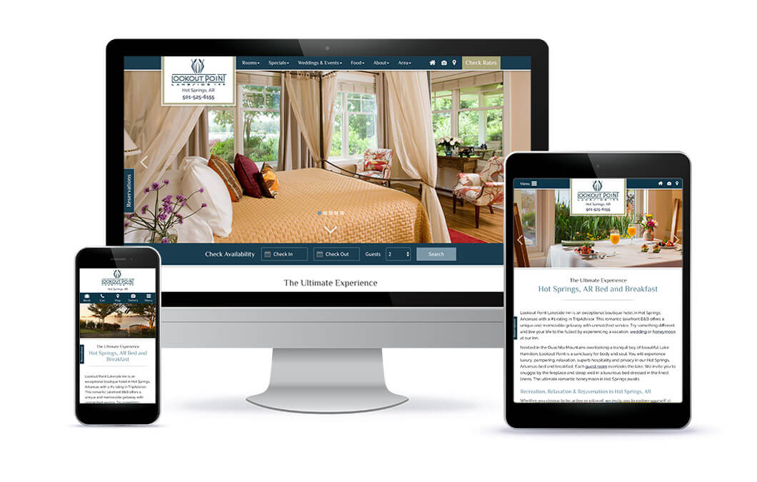 Lookout Point Lakeside Inn - Bed and Breakfast Responsive Design