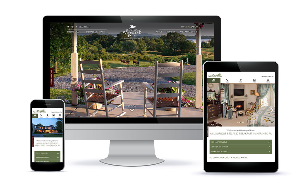 The Inn at Westwynd Farm - Website Design