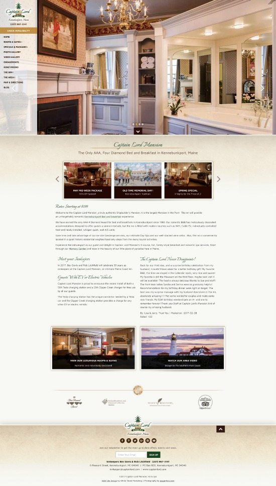 Captain Lord Mansion Website