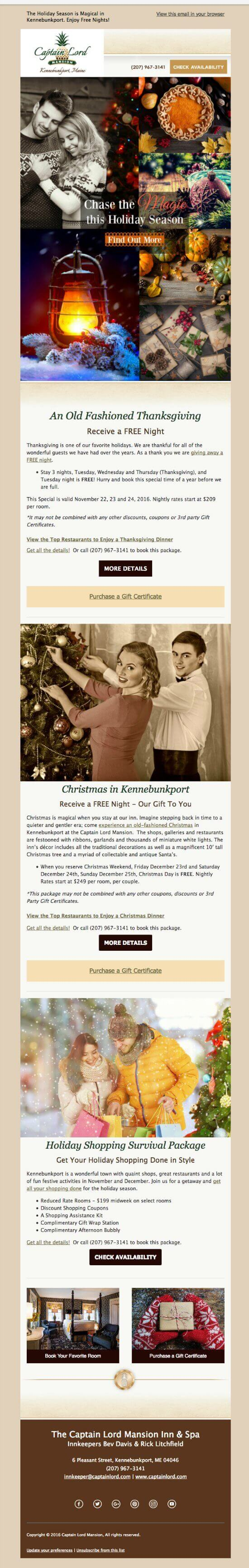 christmas in kennebunkport email marketing