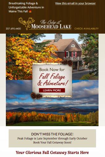 Lodge at Moosehead Lake Fall Adventure Email