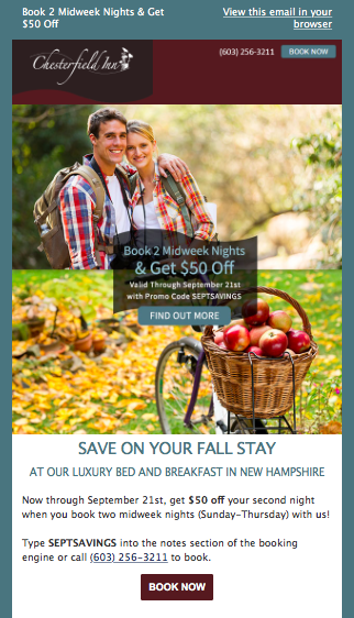 Chesterfield Inn Fall Foliage Marketing Campaign