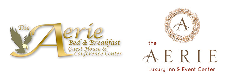 Developing a Logo - Before and After Logos for the Aerie B&B