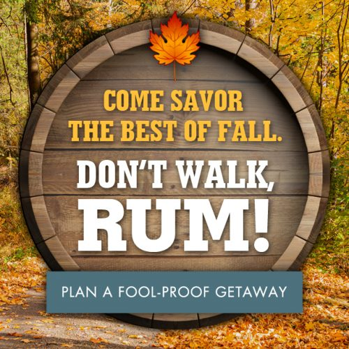 email campaign about fall rum
