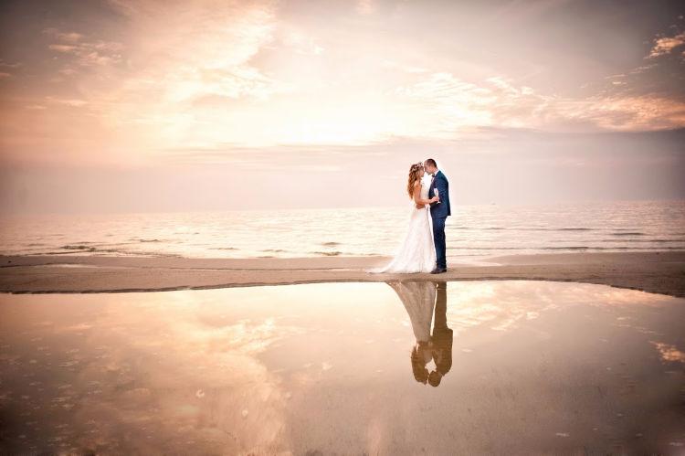 Beach Wedding - Bride and Groom-2