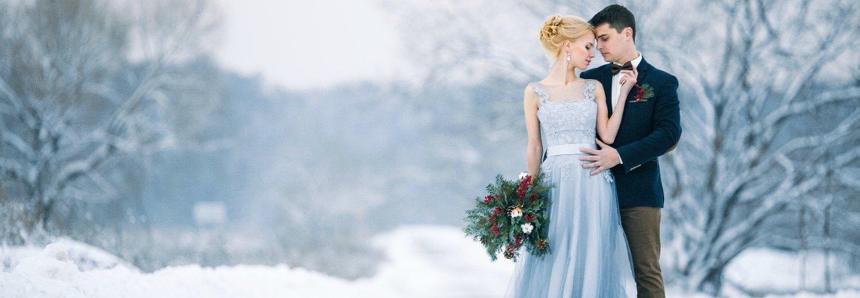 Winter Wedding Venue - Bride and Groom
