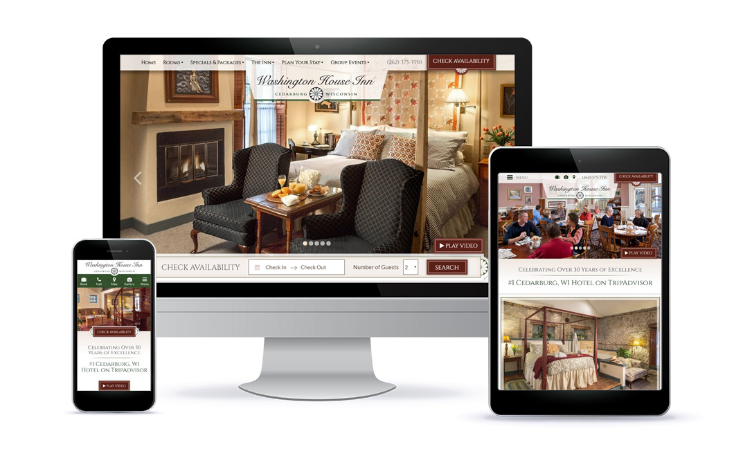 Washington House Inn - Custom Website Design