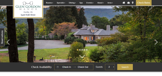Booking Engine Integration-Glen Gordon Manor