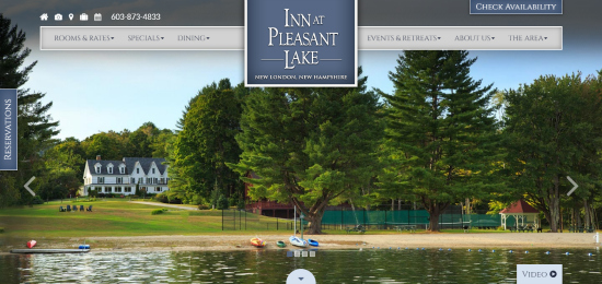 Inn At Pleasant Lake-Website Design