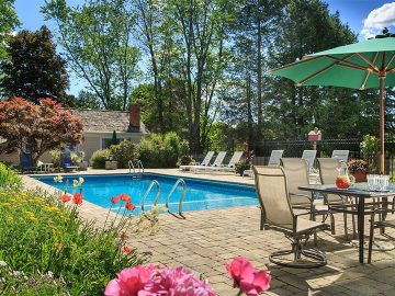 Outdoor Pool at Devonfield Inn