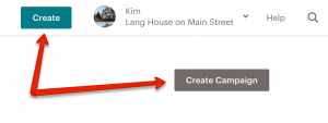 Create Campaign Buttons in Mailchimp
