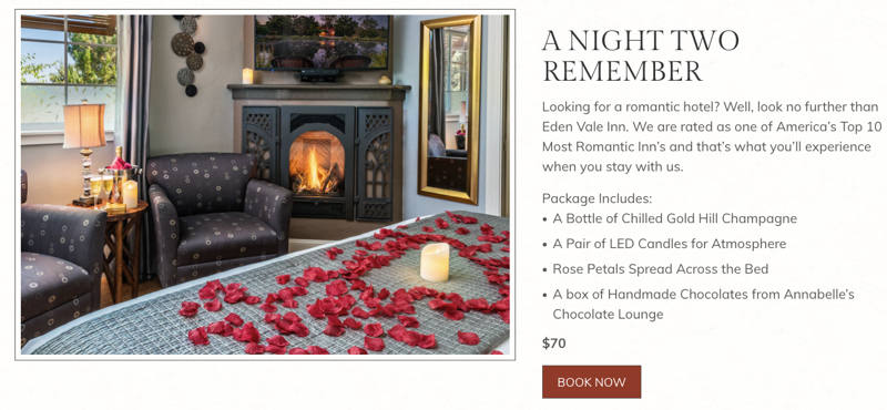 Romance Package for Bed and Breakfasts
