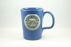 the Deneen pottery Grand Canyon mug blue version