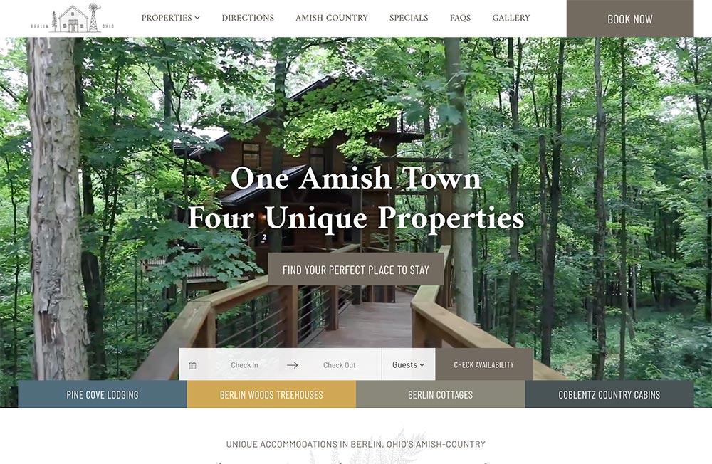 Amish Country Lodging Custom Website Design