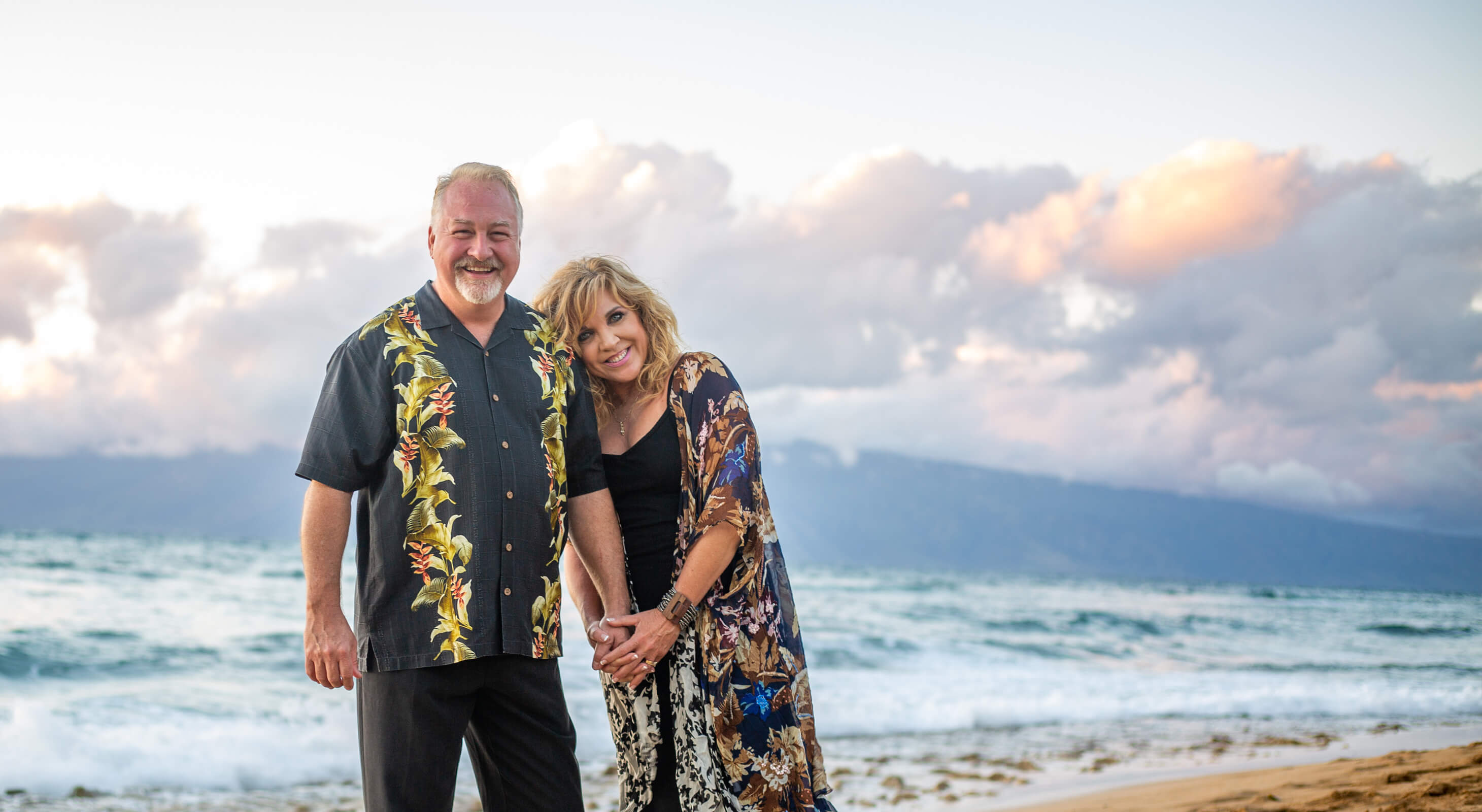 Scott and Allison Crumpton on a beach in Maui