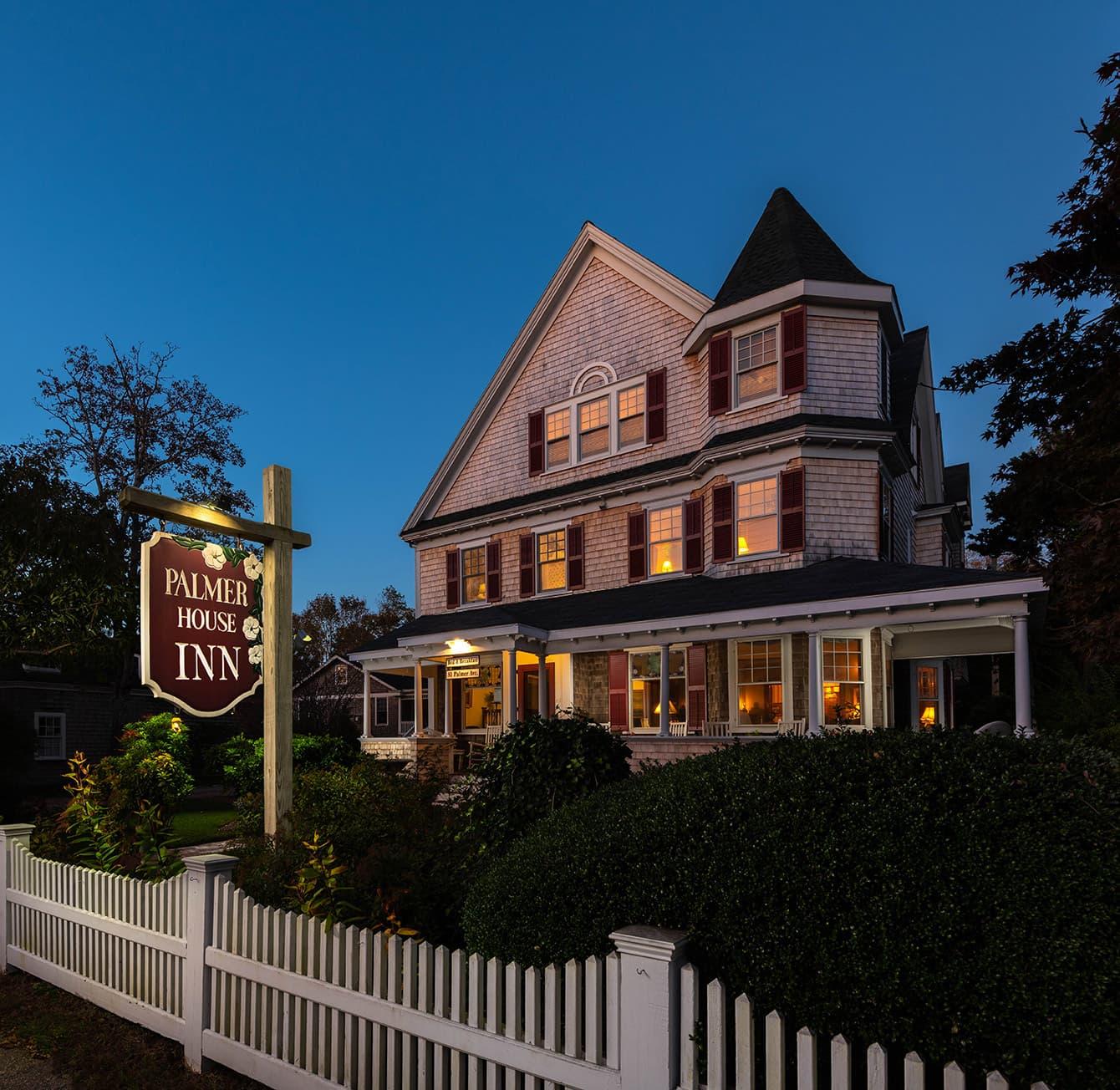 Palmer House Inn exterior on Cape Cod