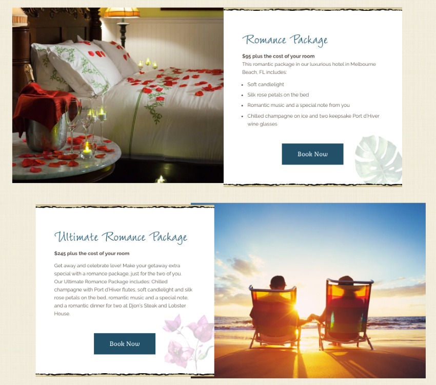 b&b specials and packages