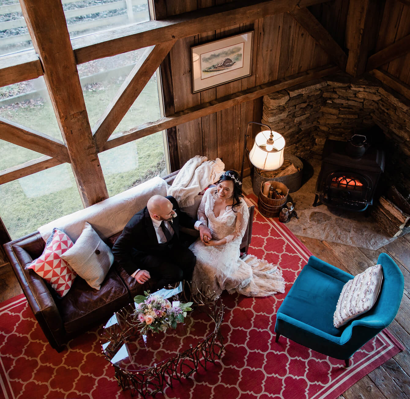 Mast Farm Inn a NC Romantic Inn - Wedding Couple