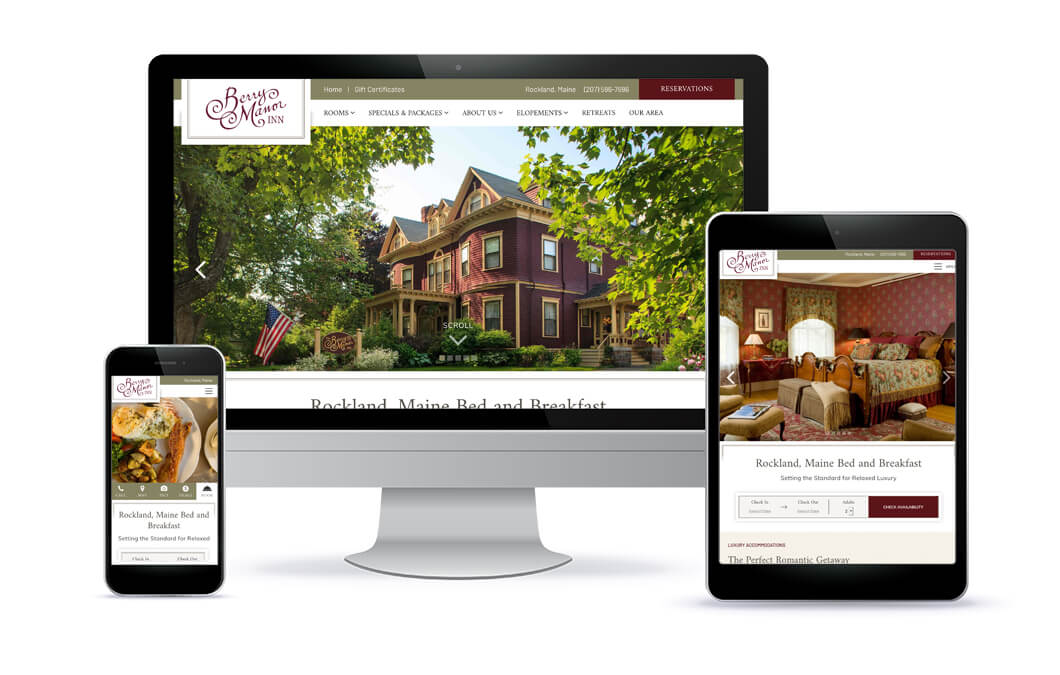 Berry Manor Inn Website Portfolio