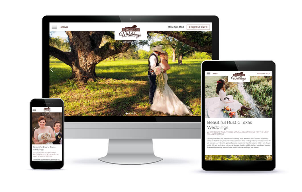 BlissWood Weddings Website Portfolio