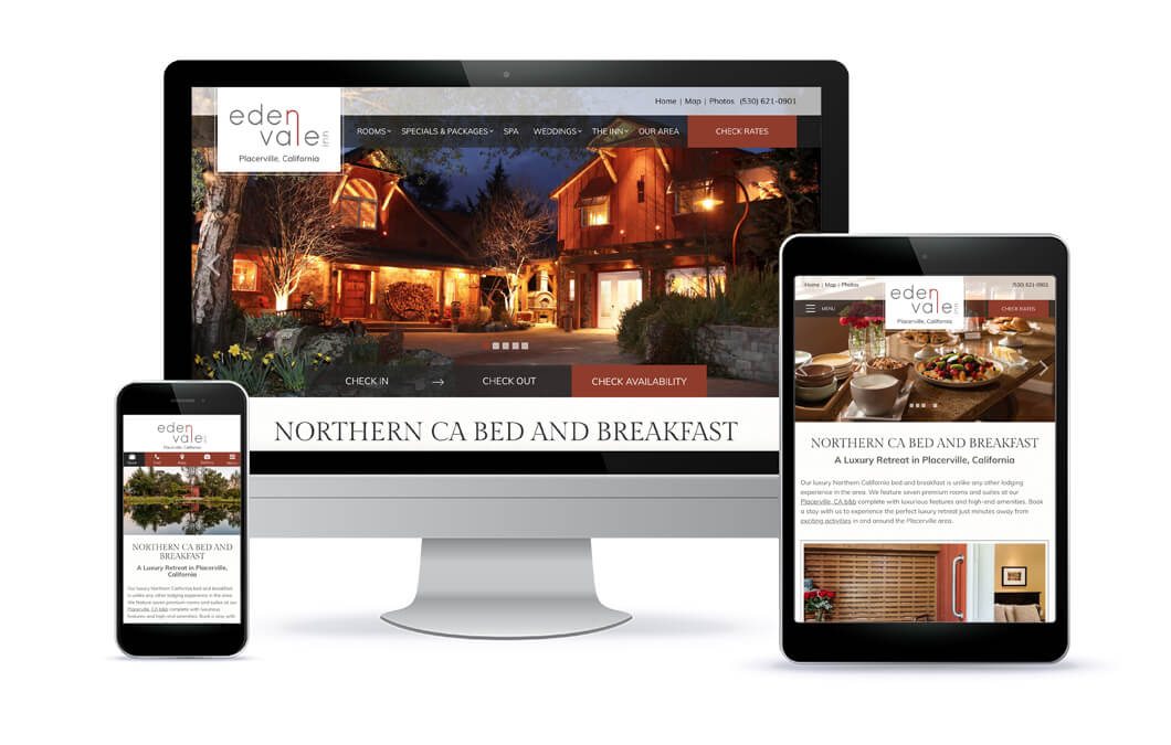 Eden Vale Inn Website Portfolio