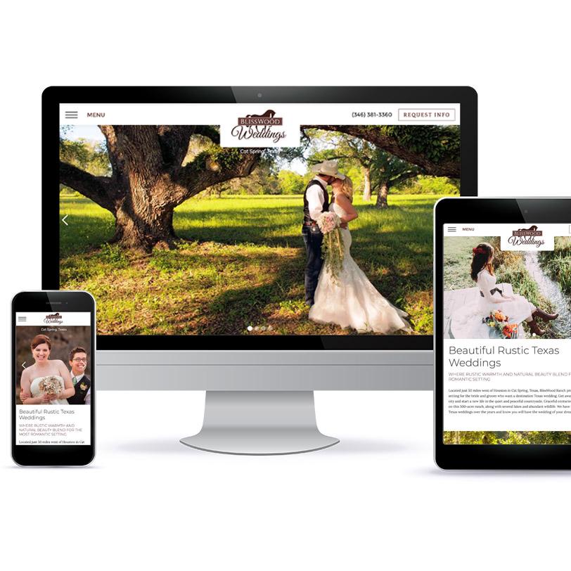 BlissWood Weddings website design
