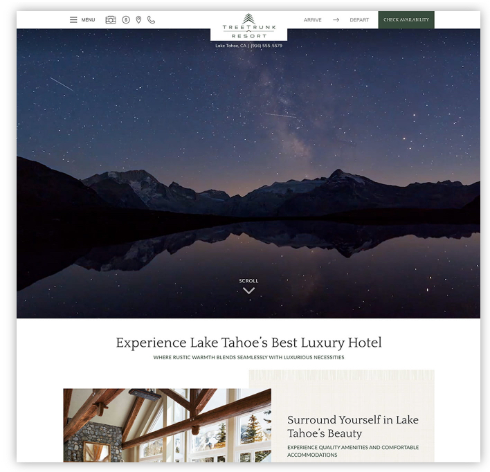 Website Design for Bed and Breakfasts