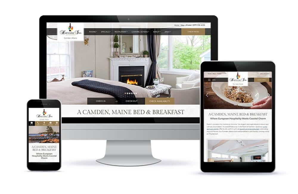Hartstone Inn & Restaurant website design
