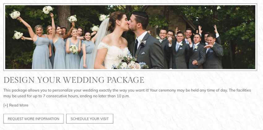 Unique Wedding Package Example - Graphic of a Wedding