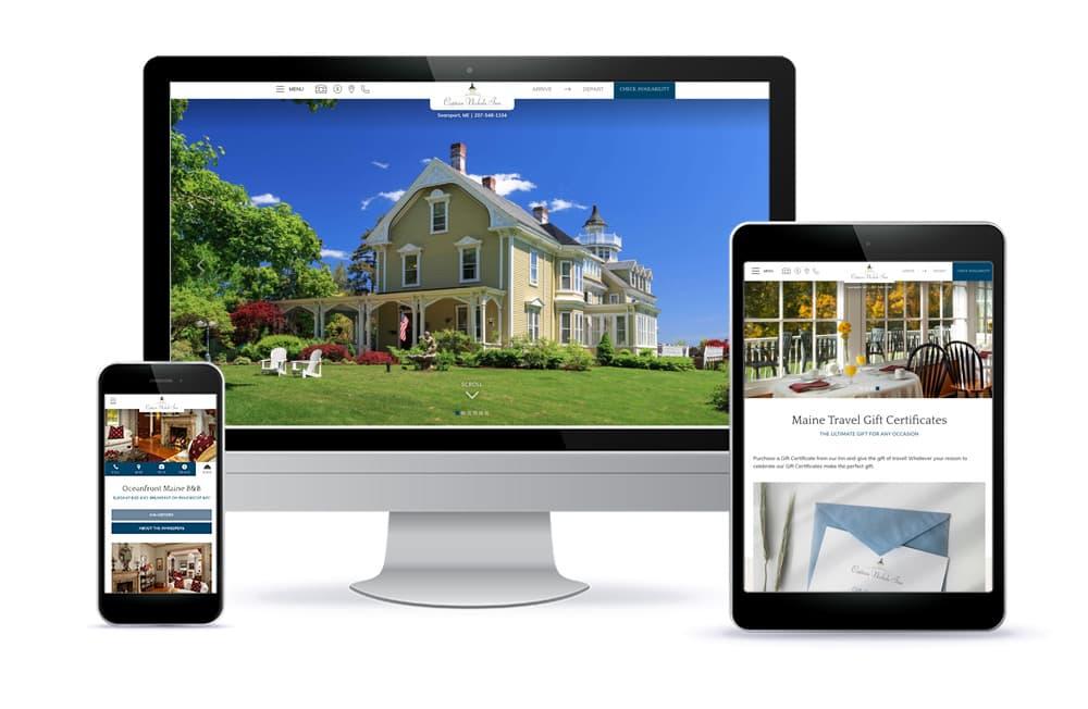 Captain Nickels Inn website design - inn and restaurant