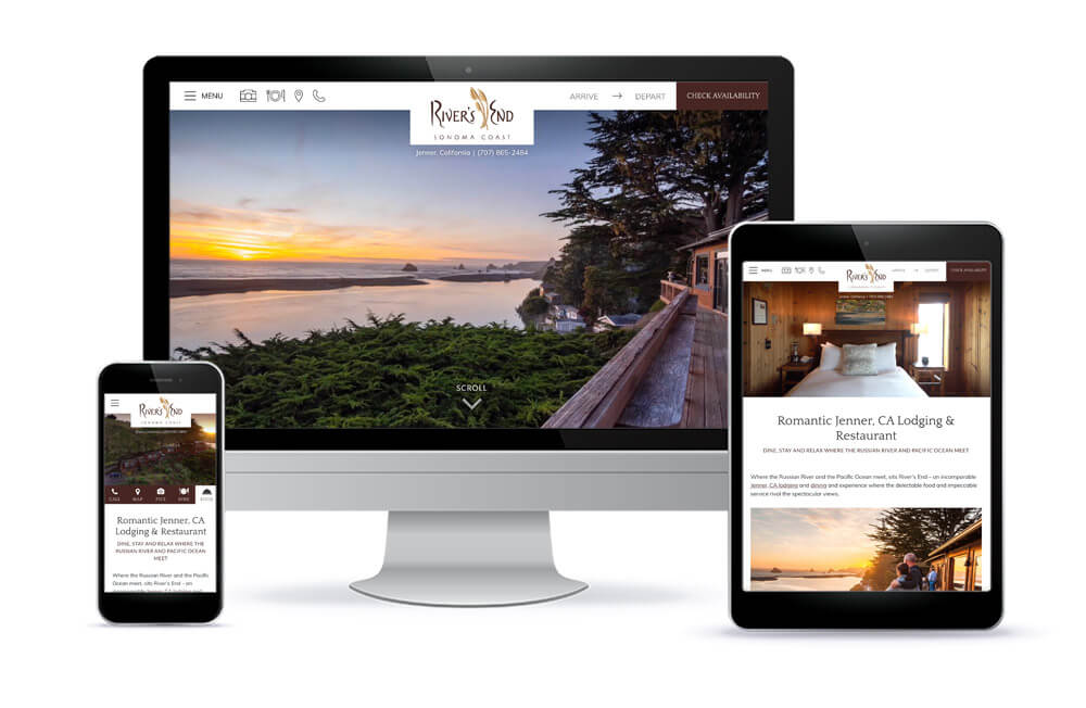 River's End California Inn and Restaurant Website Design