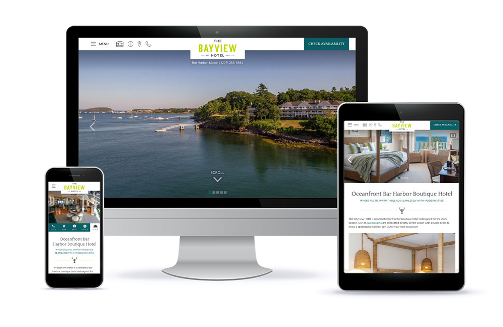 The Bayview Hotel Hospitality Website Design