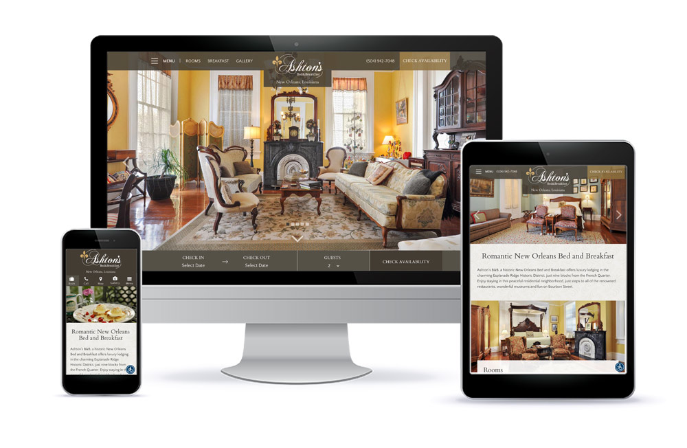 Ashton's Bed & Breakfast Web Design