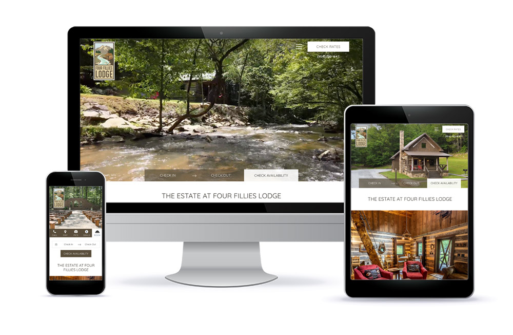 Four Fillies Lodge Website Design