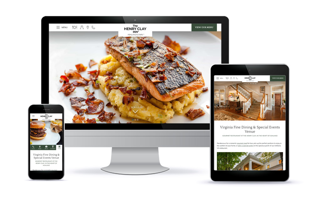Henry Clay Inn Restaurant Website Design