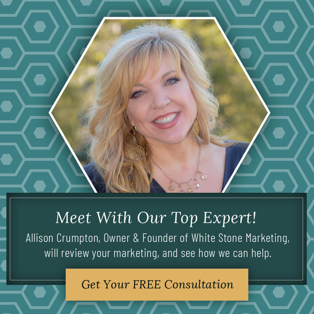 headshot of top marketing consultant Allison Crumpton for a Free Consultation