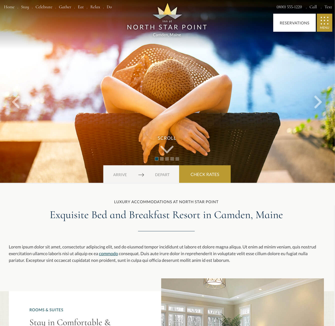 high end web design sample