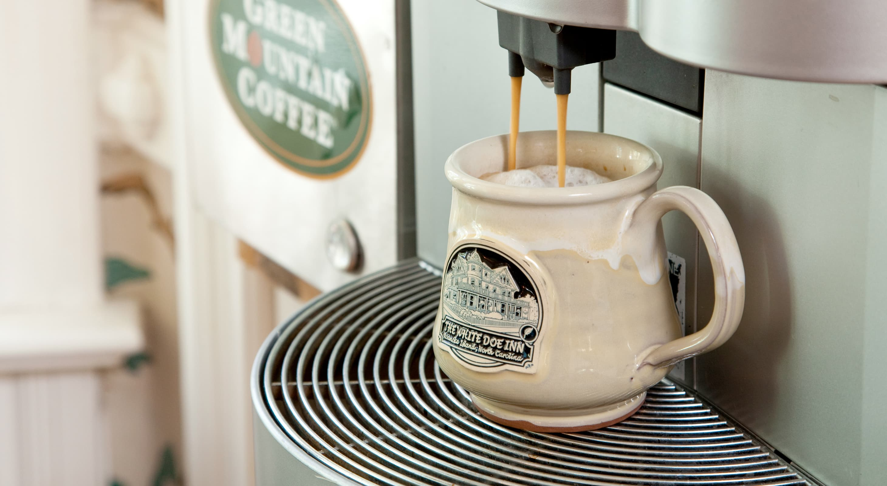 Coffee station at a Inn