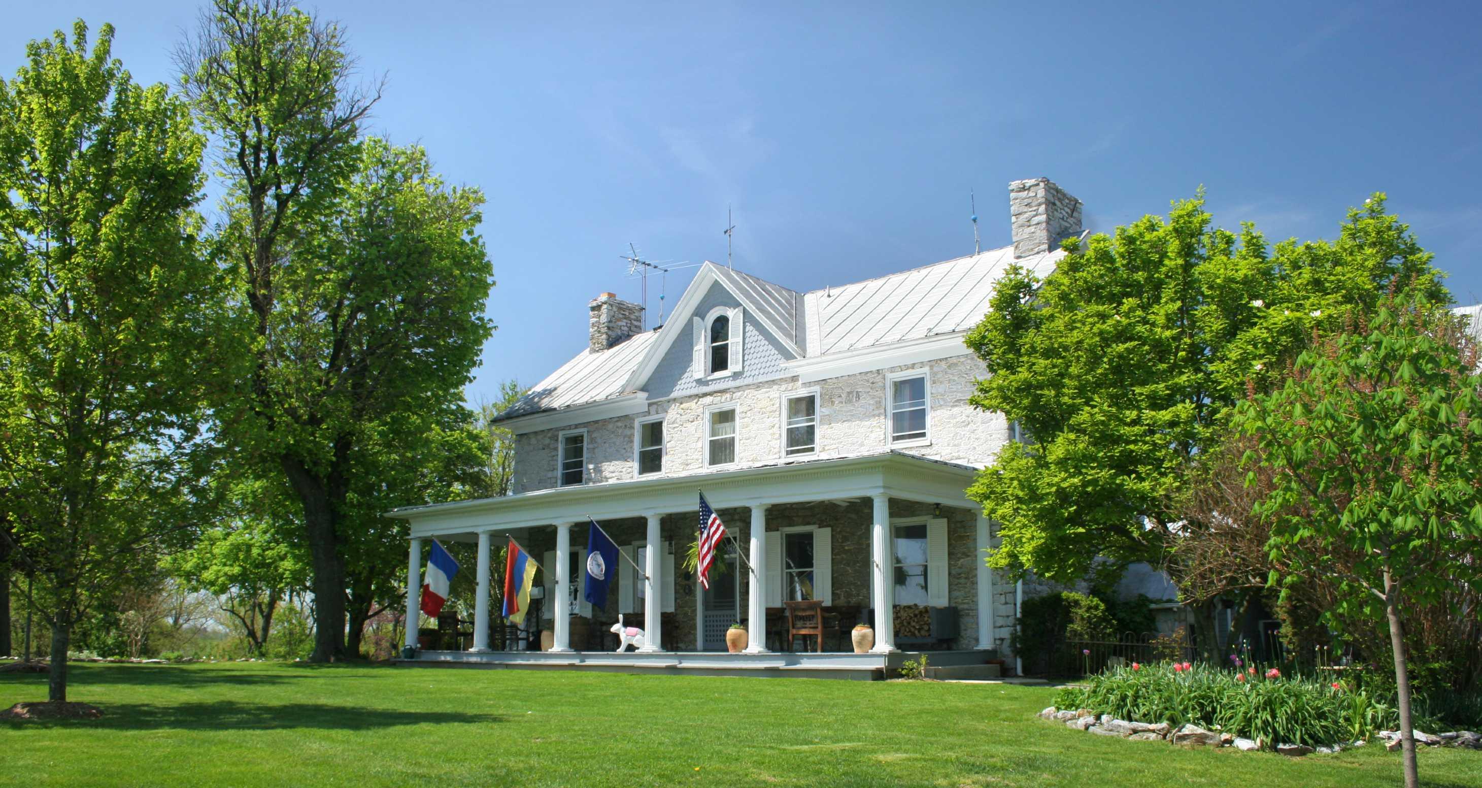 Front porch of historic Virginia B&B