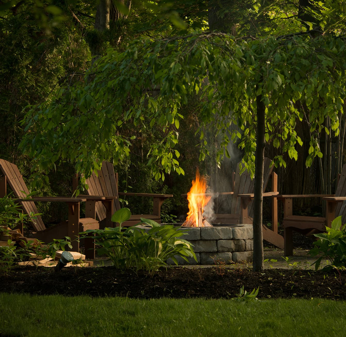 fire pit at The Chadwick Bed & Breakfast