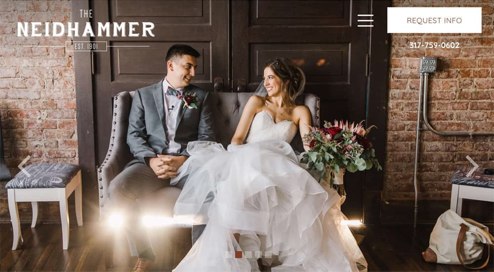 The Neidhammer best industrial wedding website